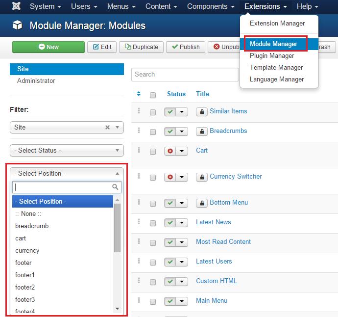 joomla module manager